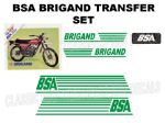 BSA Brigand Transfer Decal Set DBSA22 Green